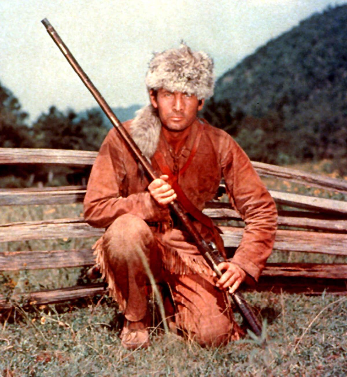 Fess Parker as Davy Crockett in the 1950s.