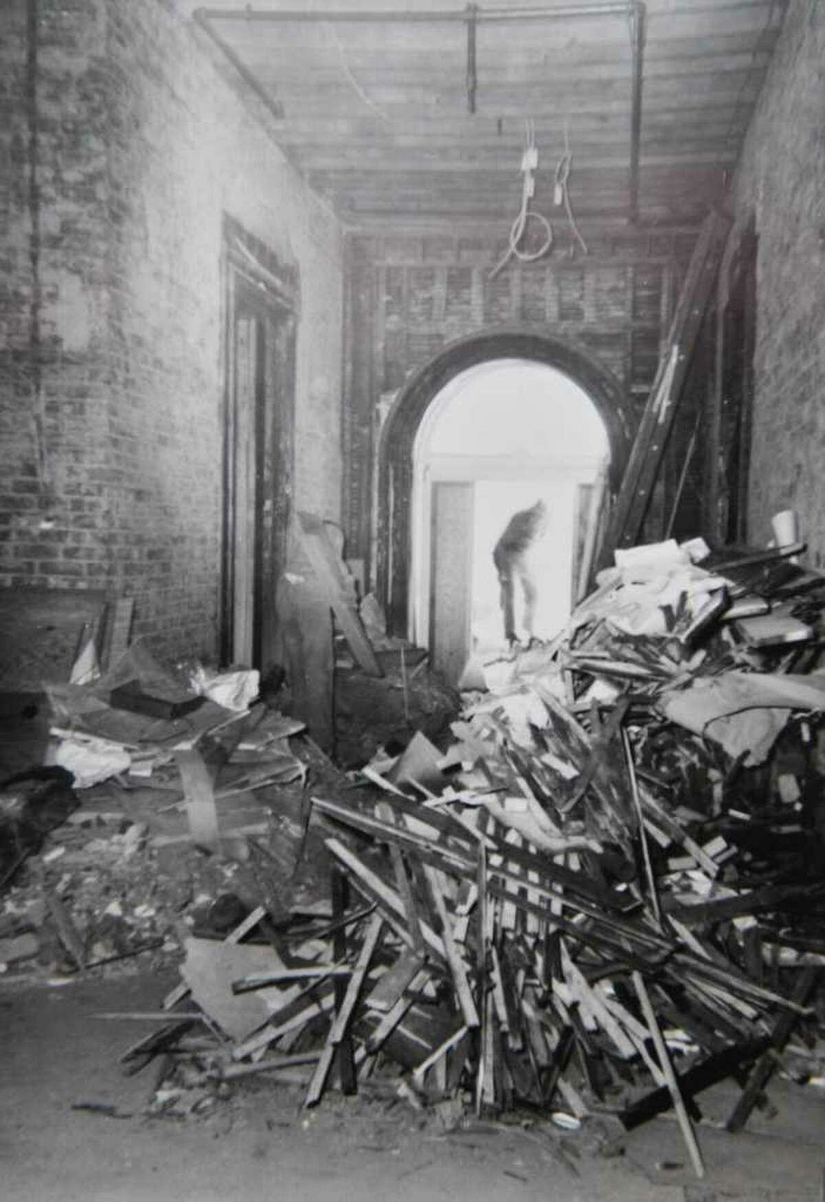 Photo courtesy of NYS OGS: Photograph of damage to the NYS Executive Mansion from the 1961 fire. For Times Union story.