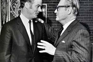 Photo courtesy of Robert Bennett: Undated photo of  then superintendent of the NYS Executive Mansion Robert Bennett with Gov. Nelson Rockefeller.