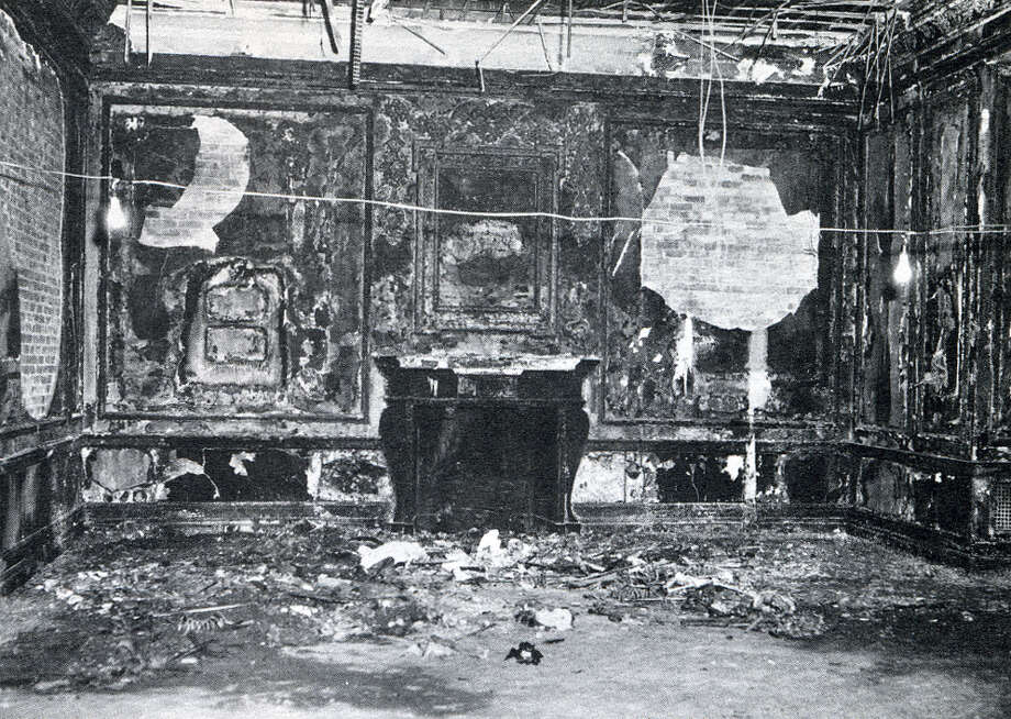 Interior of the Executive Mansion in Albany following the 1961 fire. (NYS Office of General Services)