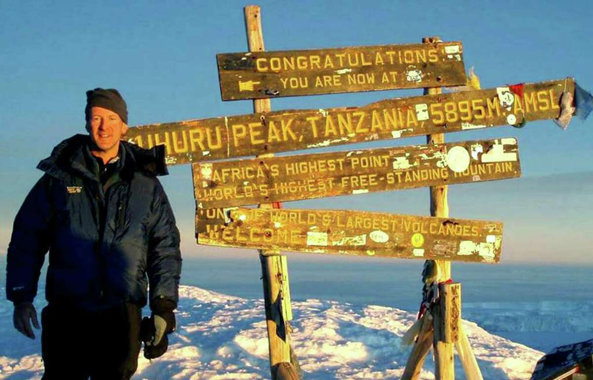 SPECTRUM/Michael Matty, a graduate of New Milford High School, stands atop Mt. Kilimanjaro in Africa on March 3, 2007. Courtesy of Michael Matty