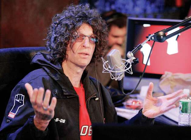 Radio personality Howard Stern responds to a question at an on-air news conference during his debut show on Sirius Satellite Radio, in New York, Jan. 9, 2006. (AP Photo/Richard Drew) 2/10/11 GT  contributed photo (chopped to head only) = Baba Booey's Defender. Shock jock Stern rips RTM. by Neil Vigdor Photo: Contributed Photo, ST / Greenwich Time Contributed