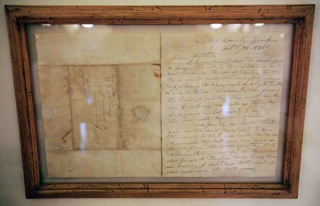 Metro daily  - An original letter written by Davy Crockett, his last, sent from TN before he left for Texas to help defend the Alamo. The letter is part of a display at the Menger Hotel, along side Crockett's original Capital Rifle, Thursday, March 3, 2011. photo Bob Owen/rowen@express-news.net Photo: BOB OWEN, SAN ANTONIO EXPRESS-NEWS / SAN ANTONIO EXPRESS-NEWS