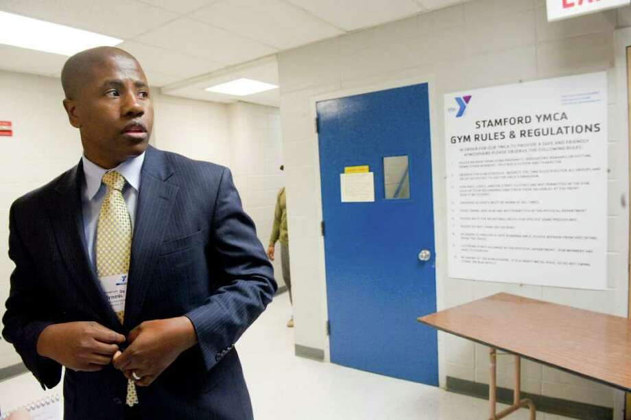 Stamford YMCA CEO Ernest Lamour at the Y in Stamford, Conn., March 3, 2011. SInce reopening last spring the Y has seen an expansion in its membership, facilities and services. Photo: Keelin Daly / Stamford Advocate