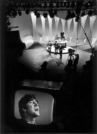 John Lennon In The Television Monitor As The Beatles Sing 605161 Newstimes
