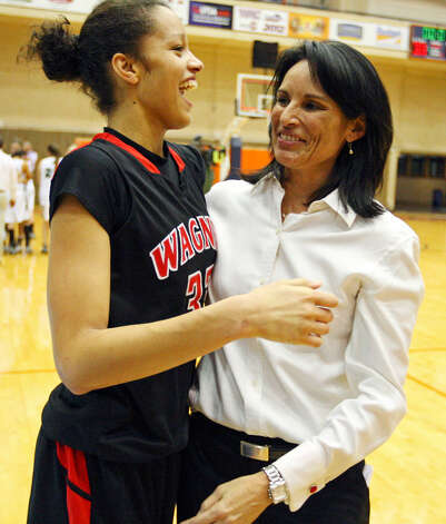 Arielle Roberson and coach Christina Camacho have helped lead the Thunderbirds to their second state berth in the school's young history. Photo: Edward A. Ornelas/Express-News