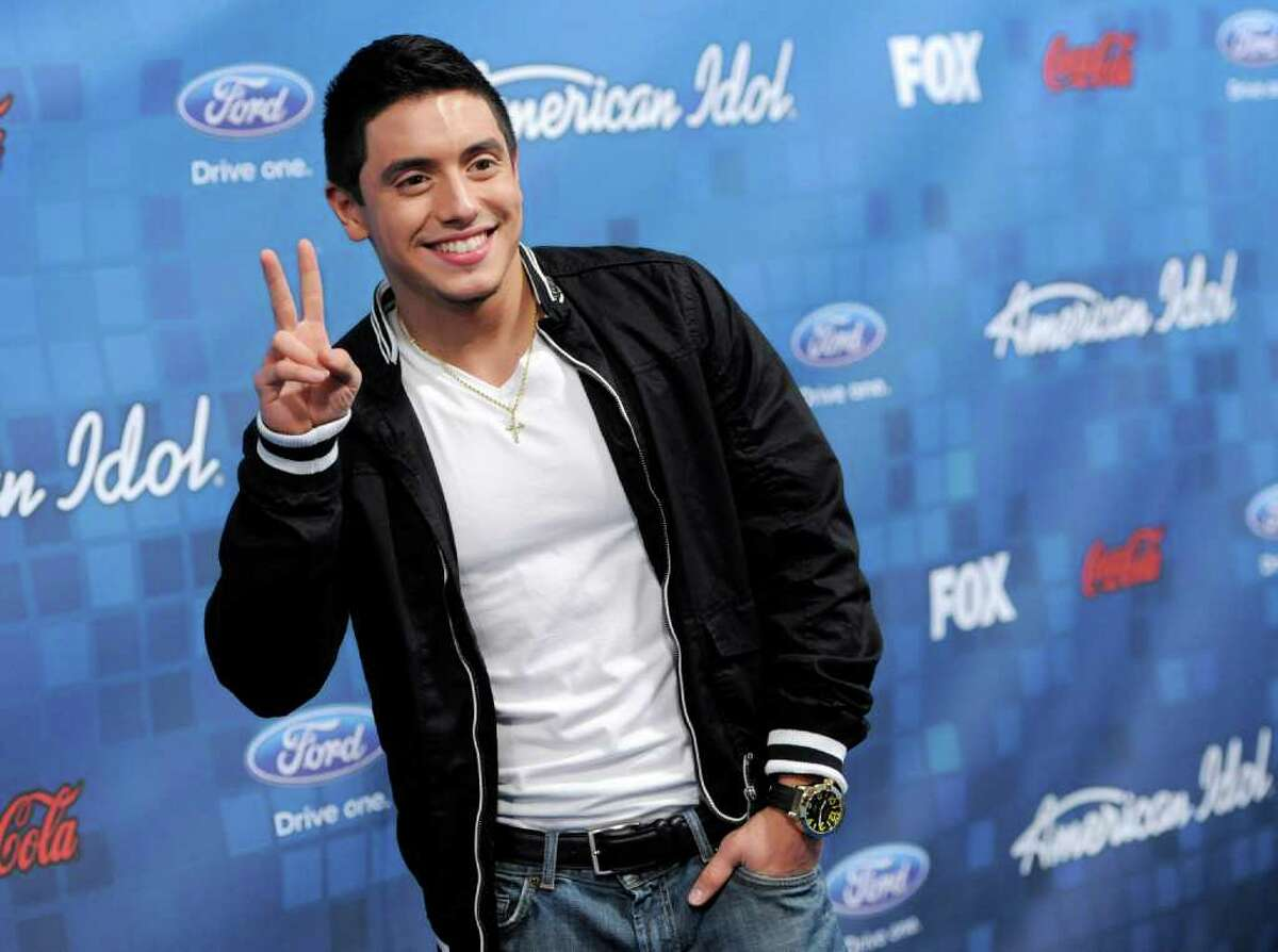 """""""American Idol"""" finalist Stefano Langone poses at the """"American Idol"""" Finalists Party in Los Angeles, Thursday, March 3, 2011."""