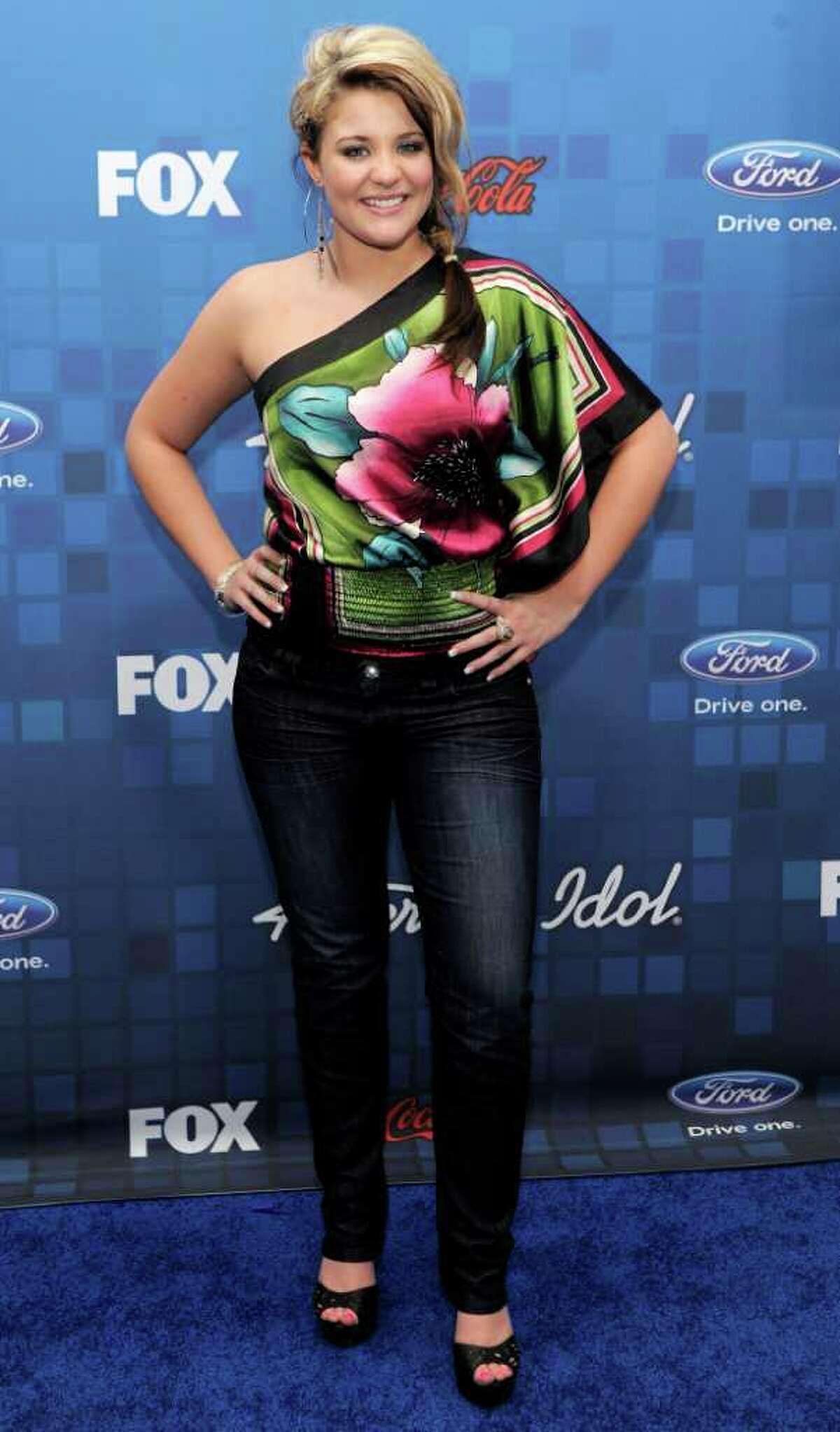 """American Idol"" finalist Lauren Alaina poses at the ""American Idol"" Finalists Party in Los Angeles, Thursday, March 3, 2011."