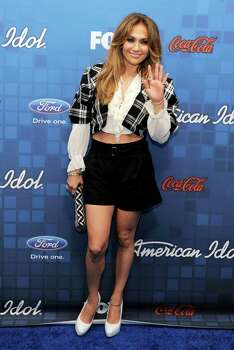 """American Idol"" judge Jennifer Lopez poses at the ""American Idol"" Finalists Party in Los Angeles, Thursday, March 3, 2011. Photo: AP"