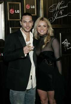 Britney Spears, right, and her husband Kevin Federline arrive for the LG Mariah Carey and Jermaine Dupri Post Grammy Party at a private residence Wednesday, Feb. 8, 2006, in Beverly Hills, Calif. Photo: DANNY MOLOSHOK, AP / MOLOSHOK