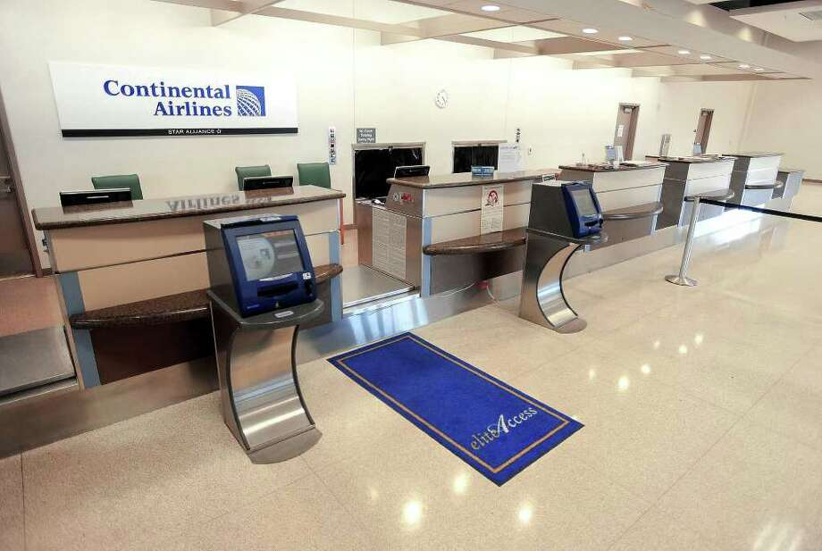 Many regional travelers drive to Houston airports to avoid the higher prices of  Continental who remains the only provider of commercial air travel.  Guiseppe Barranco/The Enterprise / Beaumont
