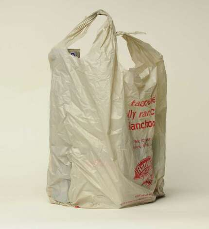 Plastic grocery bag, Friday March 4, 2011. (Will Waldron / Times Union) Photo: Will Waldron