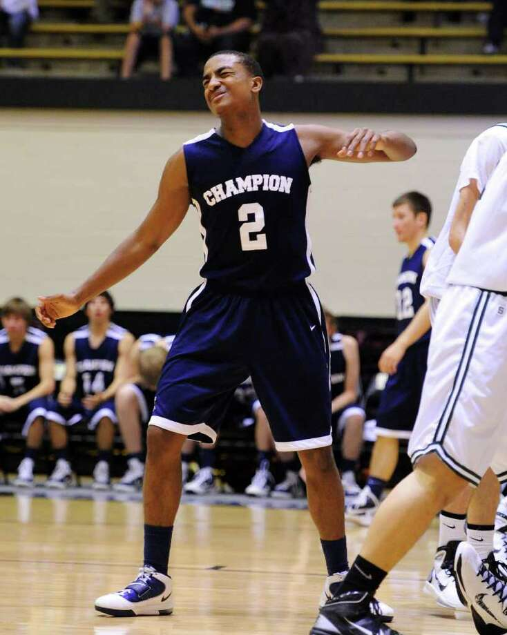 Boerne Champion's Madison Turner (2) reacts after being called for a charging foul late in game during the 4A boys regional championship basketball game between the Boerne Champion Chargers and the Cedar Park Timberwolves in Littleton Gym in San Antonio, Texas on March 5, 2011  John Albright / Special to the Express-News. Photo: JOHN ALBRIGHT, San Antonio Express-News / San Antonio Express-News