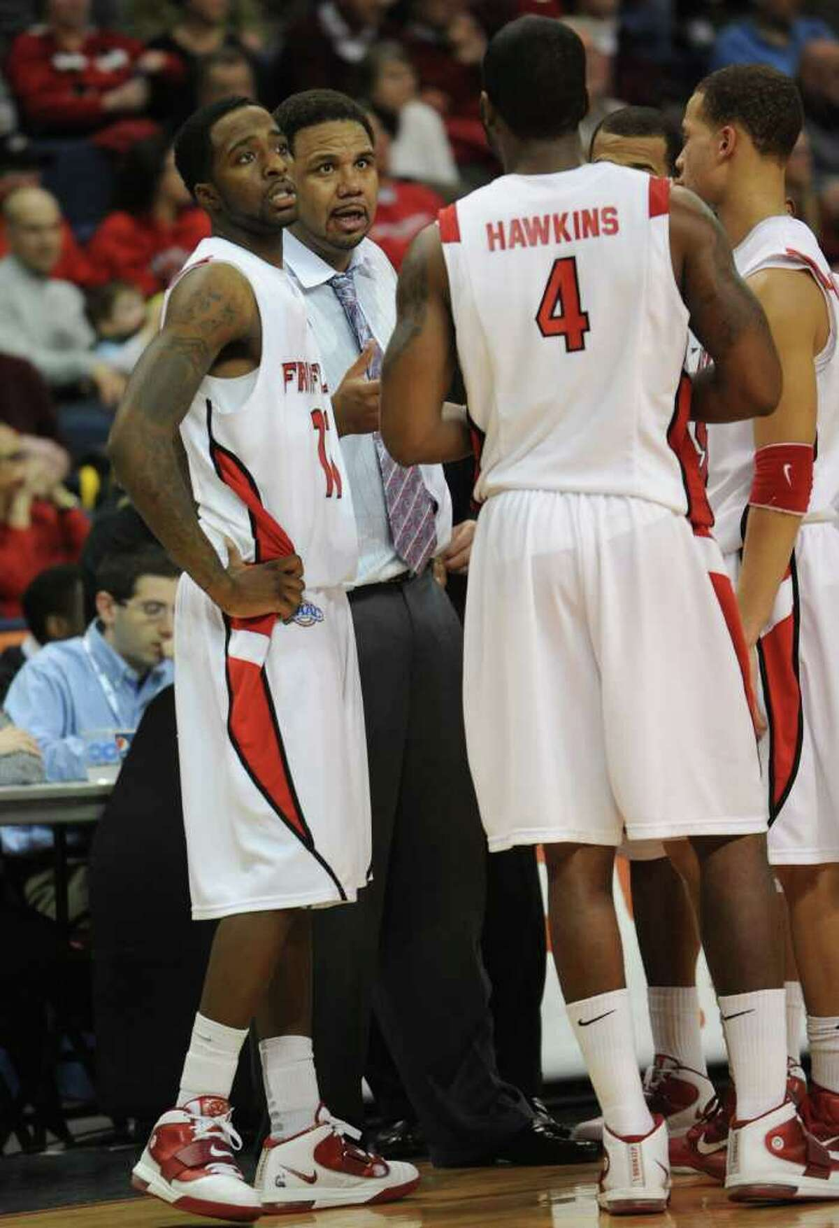 Fairfield vs. St. Peter's in the MAAC men's basketball semifinals at the Webster Bank Arena at Harbor Yard in Bridgeport on Sunday, March 6, 2011.