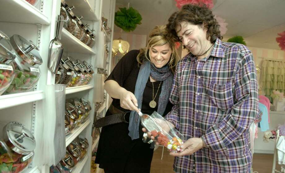 "Ashley and Paul Gilbert have opened up a new vintage penny candy store on Greenwood Ave in Bethel called ""Maddington's"". Photo taken their their store Tuesday, Sept. 16, 2009 Photo: Carol Kaliff / The News-Times"