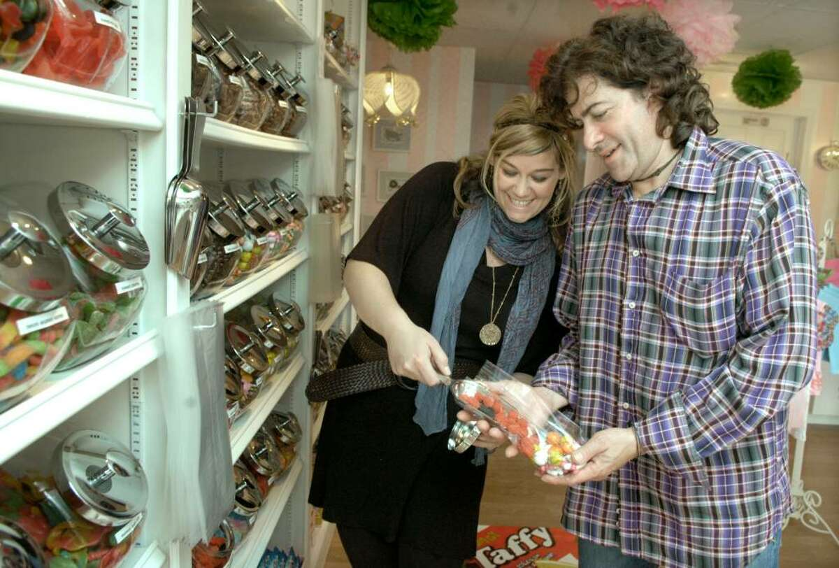 """Ashley and Paul Gilbert have opened up a new vintage penny candy store on Greenwood Ave in Bethel called """"Maddington's"""". Photo taken their their store Tuesday, Sept. 16, 2009"""