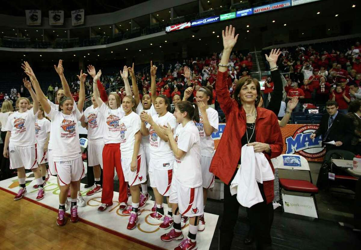 MAAC conference tournament women's basketball finals at the Webster Bank Arena at Harbor Yard in Bridgeport on Monday, March 7, 2011. Marist defeated Loyola 63-45.