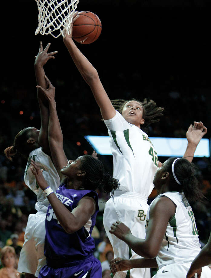 Baylor's Brittney Griner (center) has been head-and-shoulders above the competition in more ways than one. Photo: Tony Gutierrez/Associated Press
