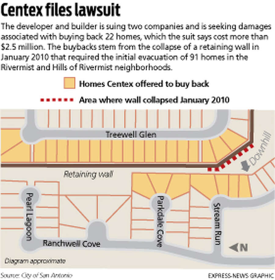 Collapsed retaining wall prompts suit - San Antonio Express-News