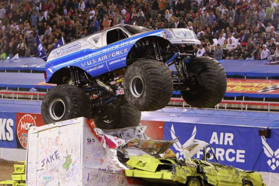 U.S. Airforce is the name of this monster truck driven by Damon Bradshaw. Photo: Contributed Photo / The News-Times Contributed