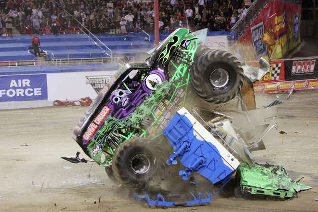 Grave Digger is a popular monster truck, but don't get in its way. Photo: Contributed Photo / The News-Times Contributed