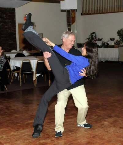Bob Carter and his wife Donna Civitello of Southbury, swing dance to the Sonny Carroll Orchestra while the musicians play at Sciortino's Restaurant in Brewster, N.Y. on Sunday Feb. 27, 2011. Photo: Lisa Weir / The News-Times Freelance
