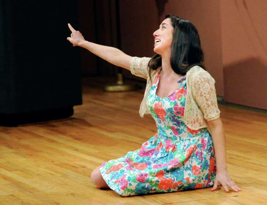 Greenwich High School student Cat Lazar performs during the English-Speaking Union's 27th annual Shakespeare Competition for high school students at Greenwich Library, Tuesday, March 8, 2011.  Lazar placed second in the competition. Photo: Bob Luckey / Greenwich Time