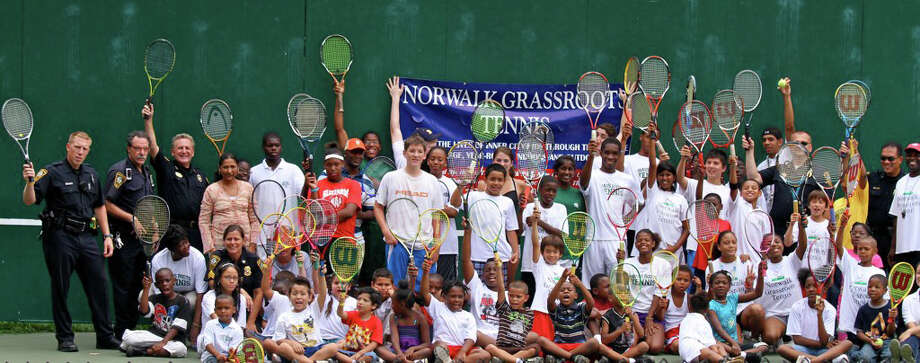Norwalk Grassroots Tennis (pictured) has been selected USTA New England's winner of the 2010 National Junior Tennis and Learning Chapter of the year. Photo: Contributed Photo/Silvia Hosokawa, Contributed Photo / Norwalk Citizen