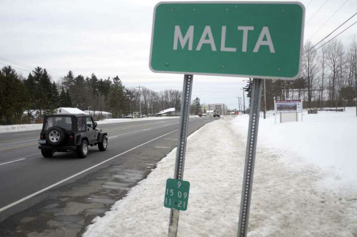 A view looking south along Route 9, a little over a half mile above the intersection of Dunning St., in Malta, NY on Wednesday, March 9, 2011. (Paul Buckowski / Times Union)