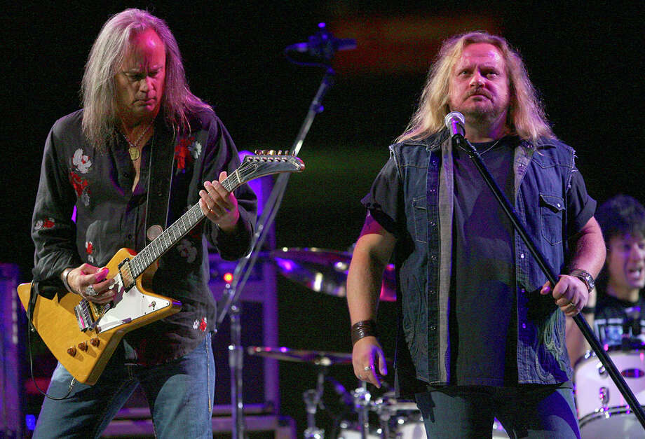 Rickey Medlocke (left) and Johnny Van Zant perform during a 2007 Lynyrd Skynyrd show at the San Antonio Stock Show & Rodeo. EXPRESS-NEWS FILE PHOTO