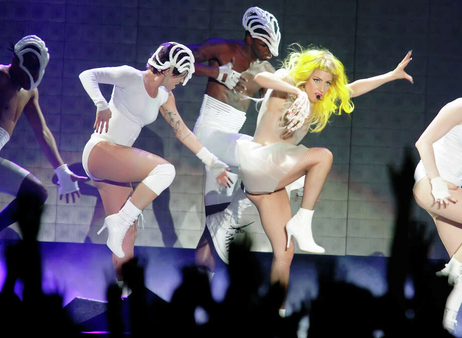 Lady Gaga performs at Boardwalk Hall Arena in Atlantic City, N.J., last month on her Monster Ball tour. GETTY IMAGES
