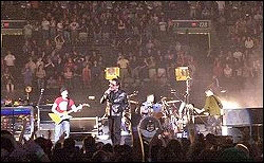 U2's Elevation tour in Sunrise, Fla. in late March. Photo: AP Photo