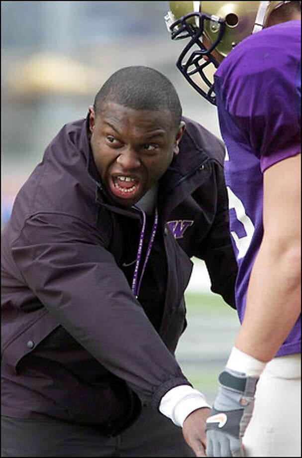 New UW running backs coach Tony Alford takes a hands-on approach. Under Alford, Iowa State's ground game improved from 103rd in the nation to 17th. Photo: Mike Urban/Seattle Post-Intelligencer