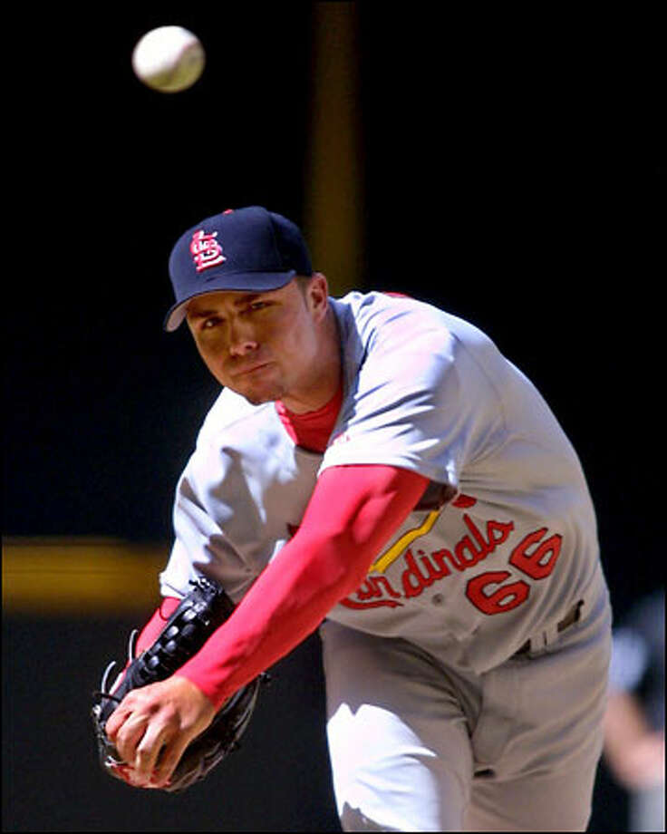 Rick Ankiel pitched five scoreless innnings after yielding a home run in the first inning. Photo: / Associated Press