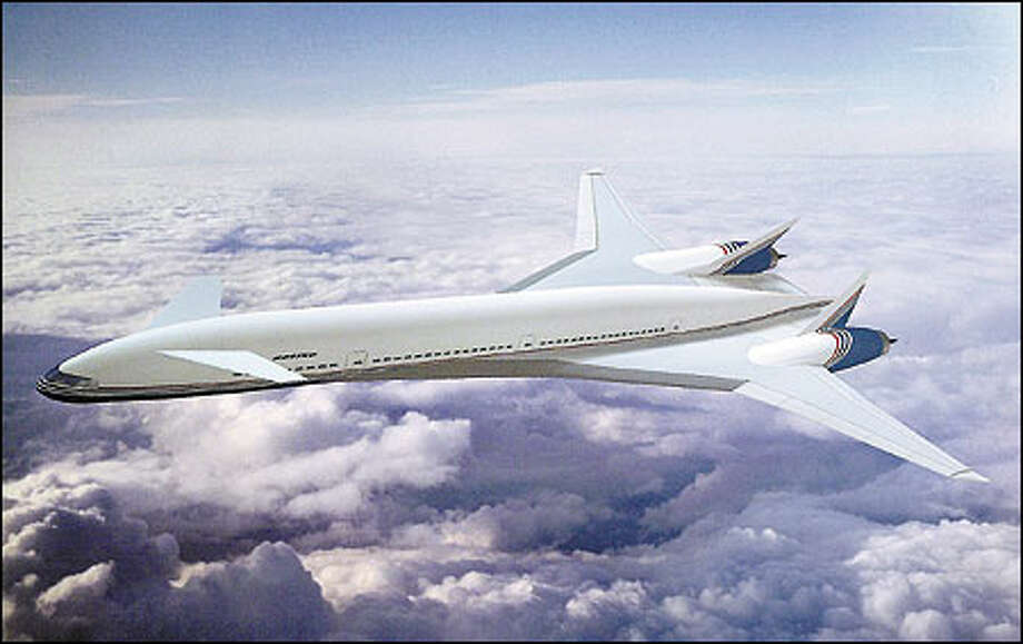 Boeing has promised the airline industry that its new, yet-to-be-named plane, shown here, will fly farther and faster without a drastic increase in operating costs. Photo: / Associated Press