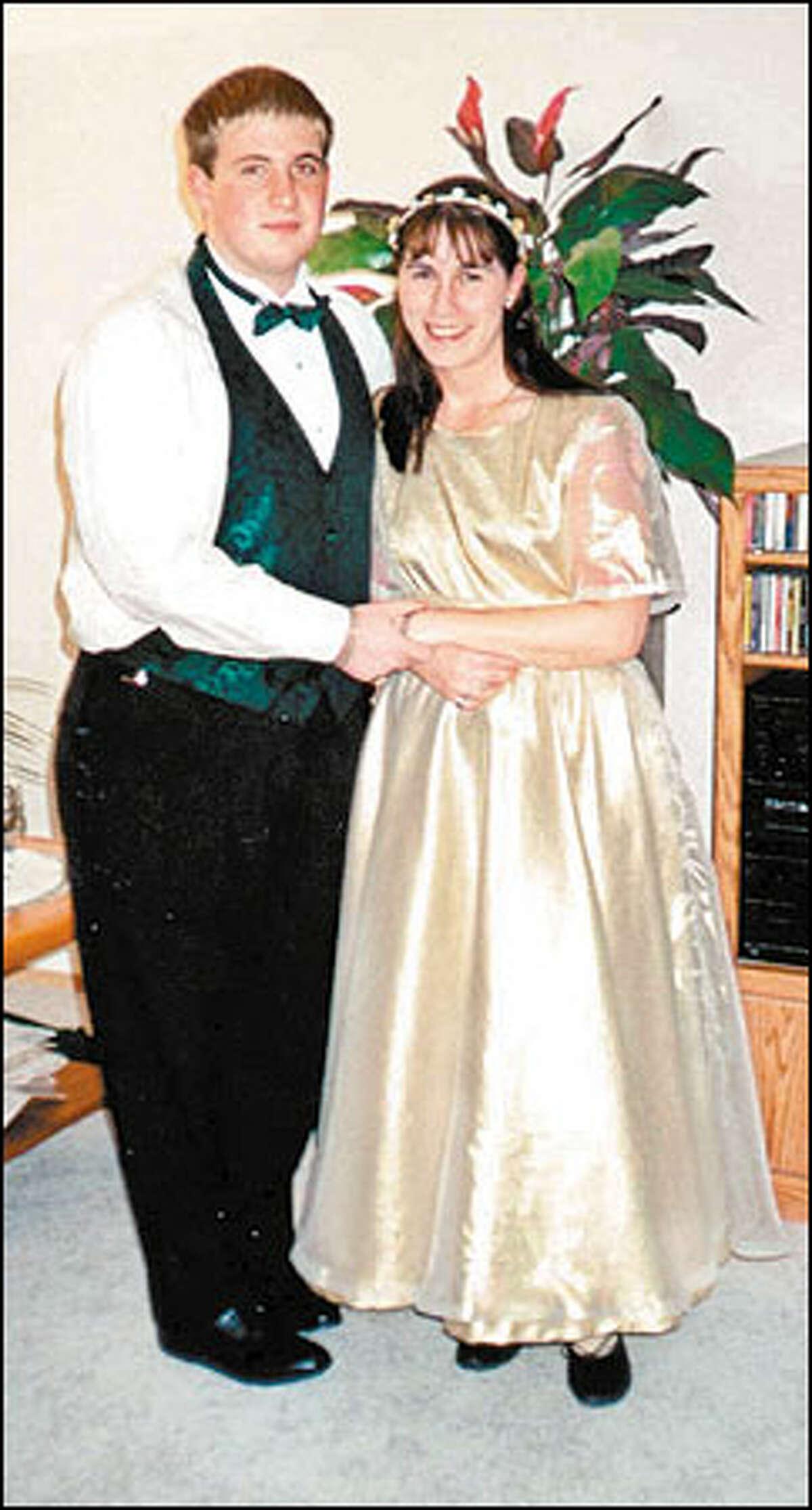 Treva Throneberry, alias Brianna Stewart, poses with a prom date.