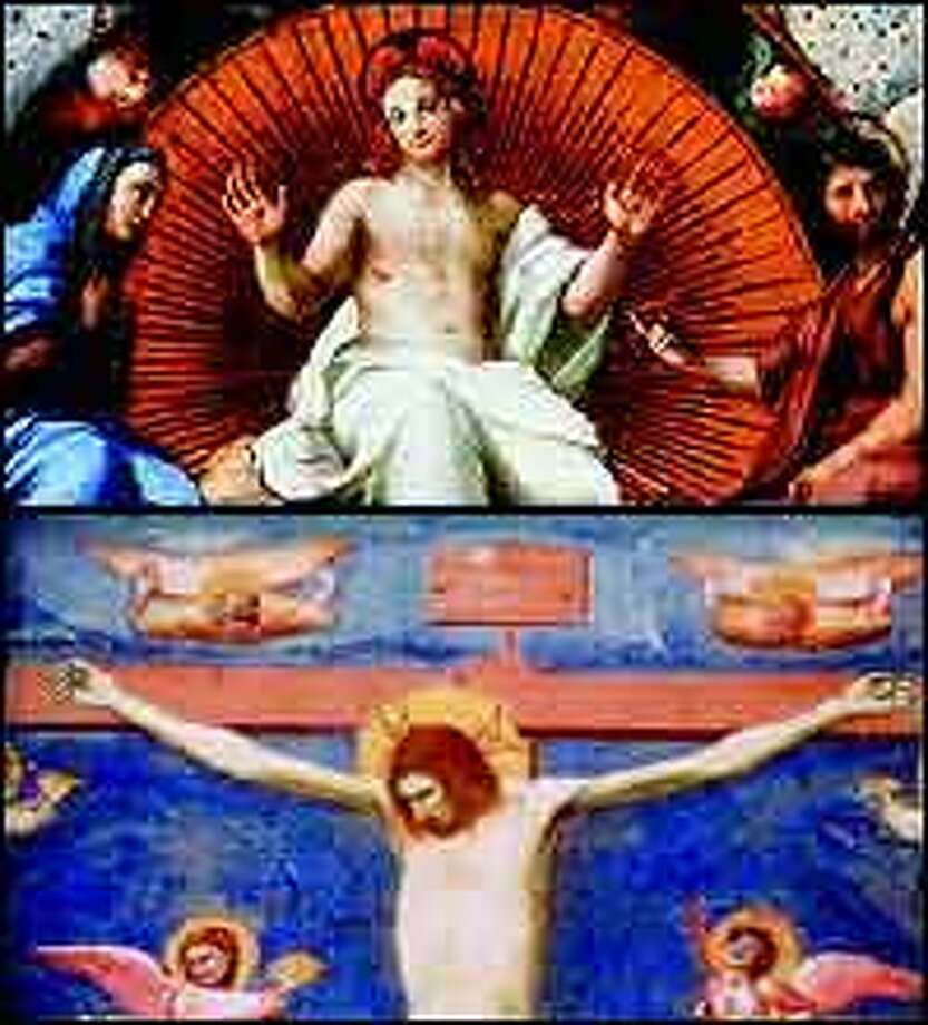 """Different, yet intimate interpretations of Jesus from 15th-century Renaissance painter Raphael, above, and 14th-century Italian painter Giotto, below, are featured in """"The Face: Jesus in Art."""""""