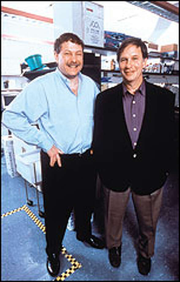 Host Robert Krulwich, right, with scientist Eric Lander, injects a healthy dose of gee-whiz into his report.