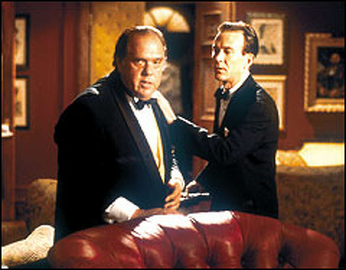 Blustery private eye Nero Wolfe (Maury Chaykin, left) and his trusty sidekick Archie Goodwin (Timothy Hutton) ring in a new series of Wolfe mysteries on A&E