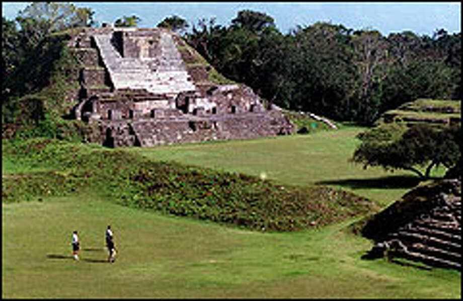The Temple of the Sun God, which dominates the ruins of Altun Ha, is one of the many breathtaking sights in Belize. The Mayans built the temple thousands of years ago. Photo: Tom Uhlenbrock