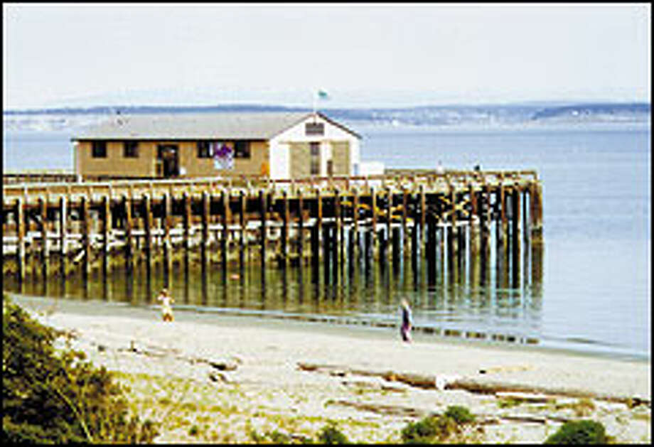 The Marine Science Center and the pier on which it stands were constructed in the early 1940s as part of the war expansion. Photo: Hilda Anderson Photos