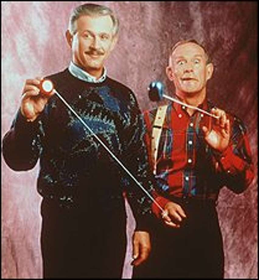Dick, left, and Tom Smothers do about 100 shows every year, but not often in Seattle. The brothers' basic formula is still the same: ad-libs, arguing, singing and zinging.