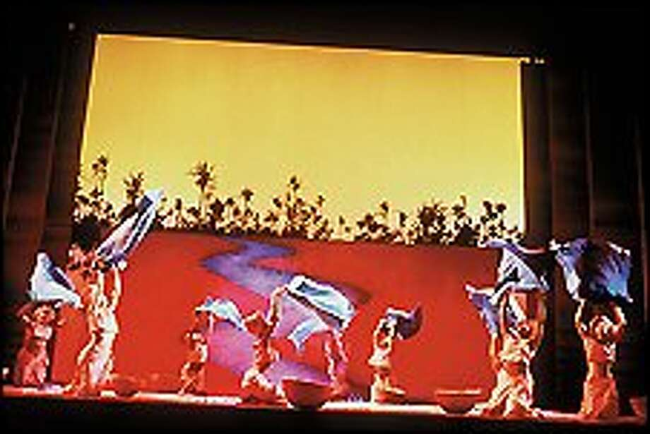 """Spectacular visuals and costumes, as well as Elton John and Tim Rice's expressive songs, complement """"Aida's"""" emotionally powerful tale of """"love in a time of hate."""" Photo: JOAN MARCUS"""