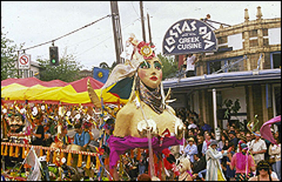 The lively Summer Solstice Parade, the highlight of the Fremont Fair, welcomes the beginning of summer. Photo: P-I File