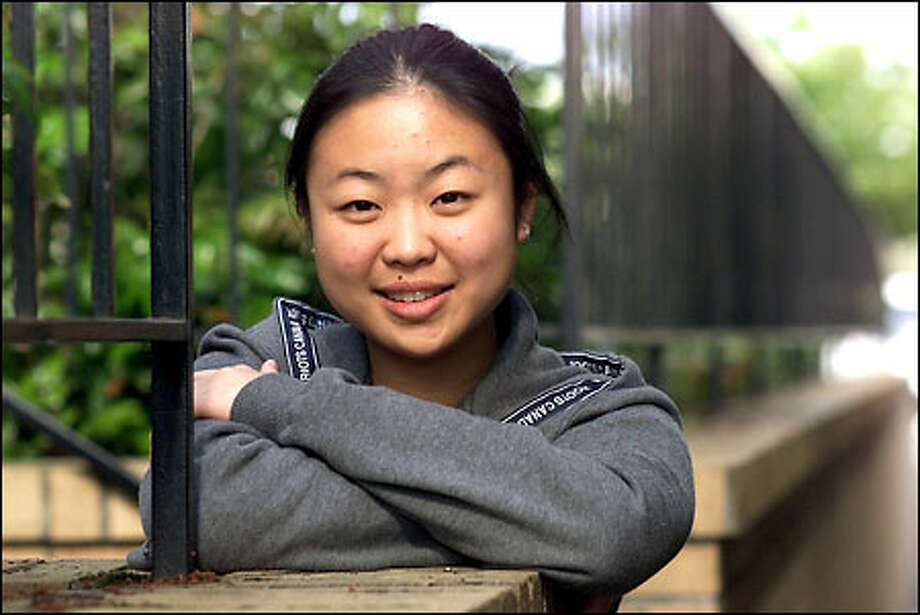 Esther Lee of Auburn is looking forward to meeting President Bush. Photo: Paul Kitagaki Jr./Seattle Post-Intelligencer