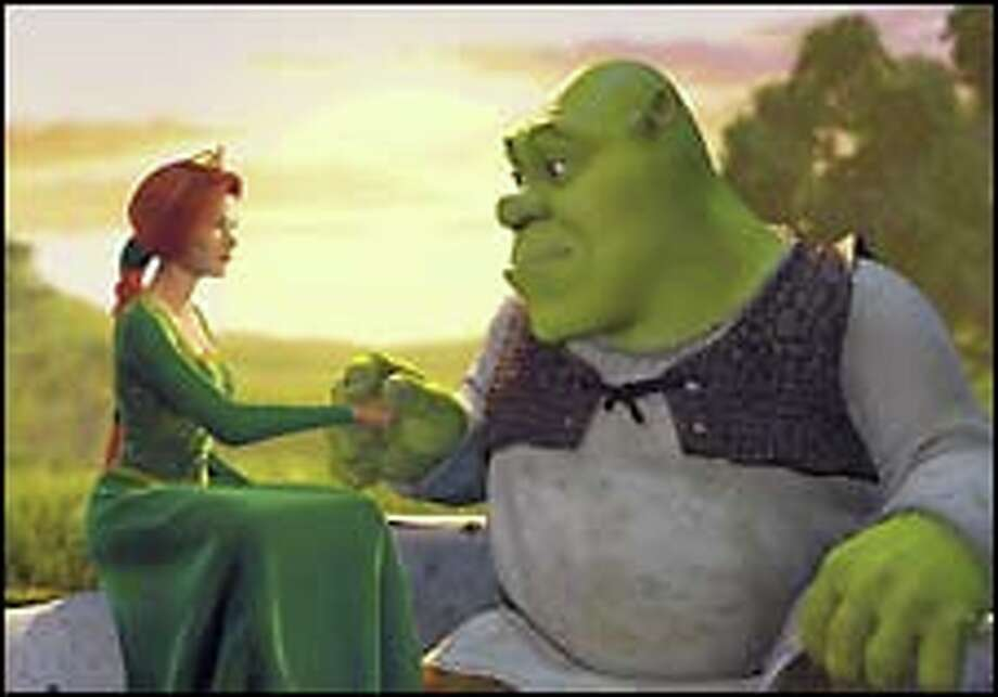 Princess Fiona (Cameron Diaz) talks about her pending rescue with Shrek (Mike Myers).