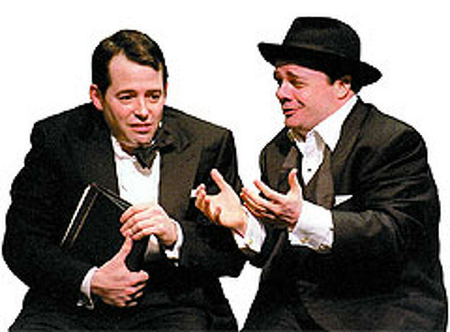 Vying for a Tony for best actor are two performers from 'The Producers,' Matthew Broderick, left, and Nathan Lane. Photo: The New York Times
