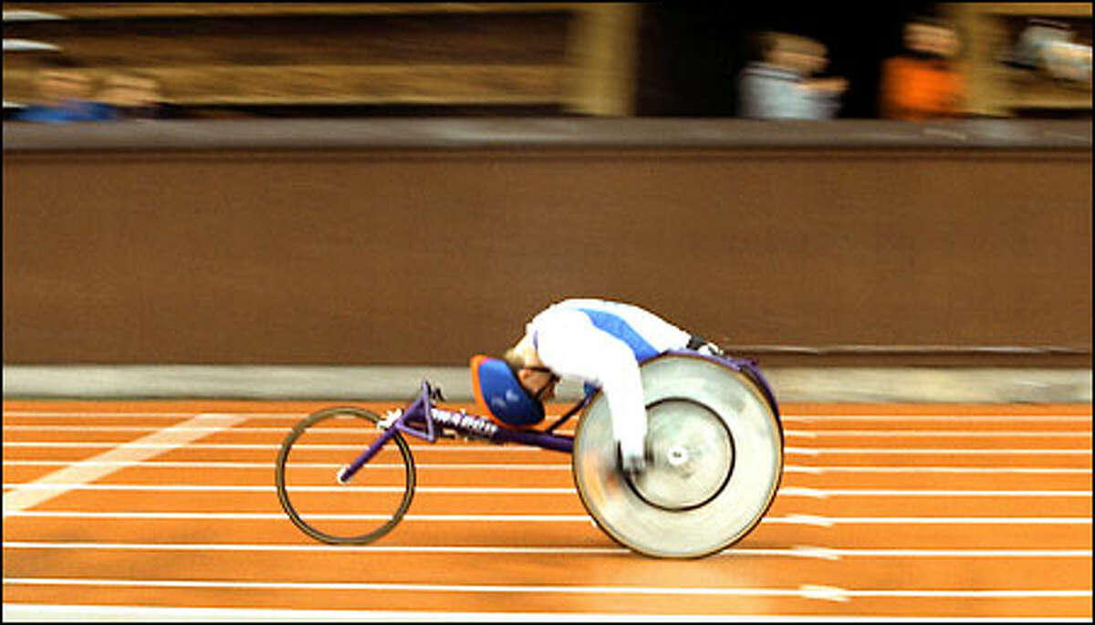 Eastside Catholic senior Alistair Patrick qualified in seven events - the 100, 200, 400, 800 and 1,500 meters, shot put and discus - for the Junior National Wheelchair Championships, to be held next month in New Brunswick, N.J.