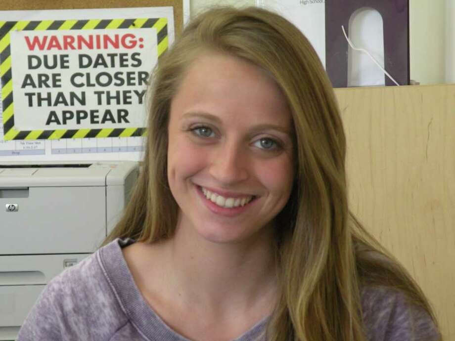 McKinley Stauffer was named the 2011 Student Journalist of the Year for her investigative stories on the abuse of the police tip line and a synthetic marijuana compound. Photo: Contributed Photo / Darien News