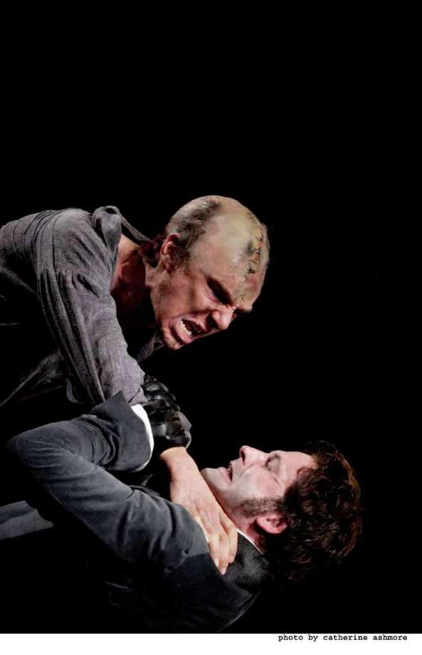 "Jonny Lee Miller (below) and Benedict Cumberbatch are alternating the roles of Dr. Frankenstein and his monster in the HD telecasts of the National Theatre production of ""Frankenstein"" which is being presented live from London at Fairfield University on Thursday, March 17 and Wednesday, April 6. Photo: Contributed Photo / Connecticut Post Contributed"